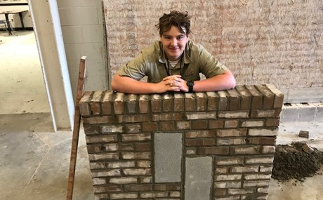 Masonry I - J. Brewer came in 1st place