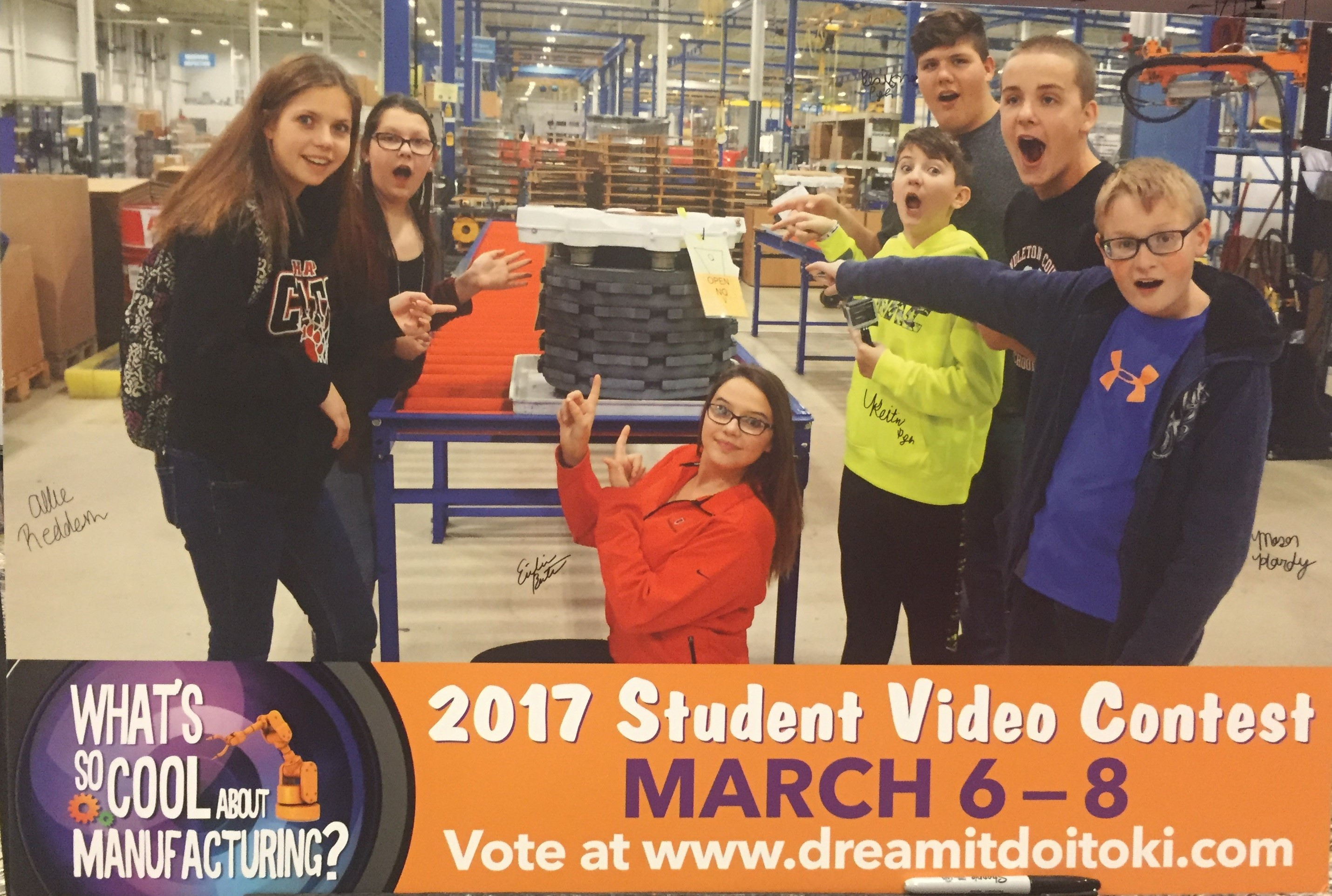"These students received the ""Outstanding Team Spirit"" award for their video PSA for Safran Landing and manufacturing in general."
